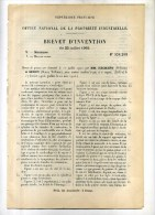 - MOTEUR COMBINE A GAZ ET A VAPEUR . BREVET D'INVENTION DE 1902 . - Máquinas