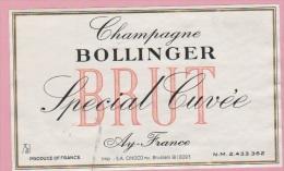 Etiquette De CHAMPAGNE - FRANCE - BOLLINGER - Spécial Cuvée - N°407811. - Labels