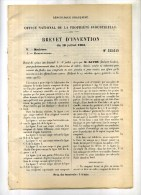 - FABRICATION DE CADRES , CHASSIS.... . BREVET D´INVENTION DE 1902 . - Máquinas