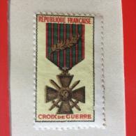 VIGNETTE CROIX DE GUERRE 1914-1918. RUBAN AVEC PALME.