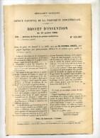 - POIGNEE HYGIENIQUE POUR PORTE-JOURNEAUX . BREVET D´INVENTION DE 1902 . - Mobili