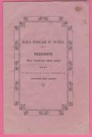 Vicenza  Bilancio Della Banca Popolare Datato 1871 - Banca & Assicurazione