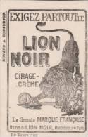 Cirage Lion Noir ( Rare)   Format  10 X 15,5 Cm - Wash & Clean