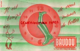 33 - COUTRAS - BUVARD BOTTES BAUDOU - PUBLICITE LAGARDE - Shoes