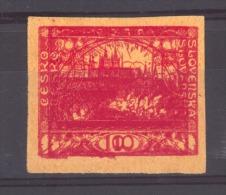 04076  -   Tchécoslovaquie  :  Yv  5  (*)   Double Impression - Cecoslovacchia