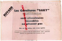 """87 - LIMOGES - BUVARD LES GARNITURES """" SAKI """" POUR SABOTS ET GALOCHES-MANUFACTURE CAOUTCHOUC- CHAUSSURES - Chaussures"""