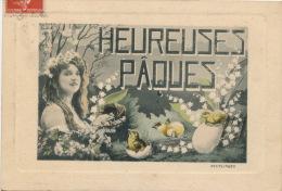 "FEMMES - FRAU - LADY - SPECTACLE - ARTISTES - Jolie Carte Fantaisie Artiste DORGERE ""Heureuses Pâques "" - Femmes"