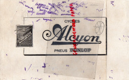BUVARD CYCLES ALCYON - PNEUS DUNLOP - VELO - - Transports