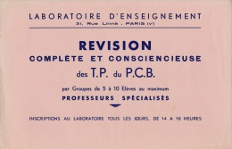 Laboratoire D'enseignement  - 31 Rue Linné Paris  V - Papel Secante