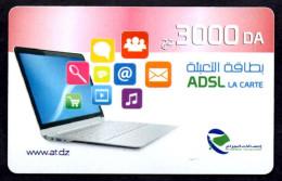 CARTE RECHARGE INTERNET RECHARGE CARD Karten Aufladen RECARGA TARJETA Utilisée / Used - Algérie