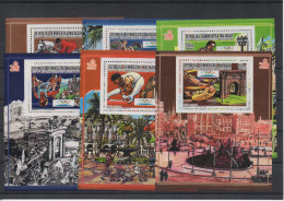Madagascar Madagaskar 1987 Jeux Olympiques Barcelone Olympic Games Barcelona Olympische Spiele 1992 Mi. Bl. 66-71