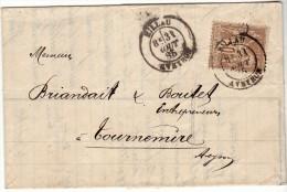 MILLAU TOURNEMIRE - 1885 - VILLA - LAC N° 80 - Marcophilie (Lettres)
