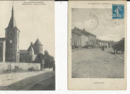 Manonville  Eglise Et Chateau  Rue...  2 Cartes - Autres Communes