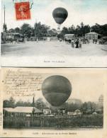 AVIATION(MONTGOLFIERE) PARIS(LOT DE 2 CARTES) - Montgolfières