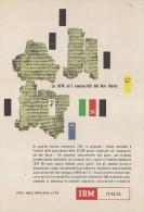 # IBM Electronics Computer Dead Sea Manuscripts 1970s Advert Pubblicità Publicitè Reklame Ordinateur Elektronik - Other Collections