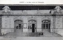 Cpa La Gare De GAGNY, Entrée Sur VILLEMOMBLE, Enfants Aux Cerceaux (51.86) - Gagny