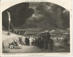 FOTO GRANDE, ED. ALINARI,  L'ULTIMA ORA DI CRISTO. - Antiche (ante 1900)