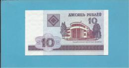 BELARUS - 10 Rublei - 2000 - P 23 - UNC. - S�rie ( BV ) - National Library   - 2 scans