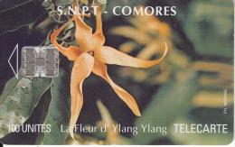 COMOROS ISL. - Ylang Ylang Flower 1, Tirage 20000, Used - Comoros