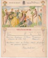 BELGIE BELGIQUE TELEGRAM TOURNAI - Stamped Stationery
