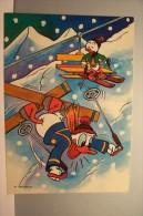 WALT DISNEY  ---    SPORTS  D'HIVER- SKI -  N°6 ( Les éditions  André  GRENOBLE ) - Disney