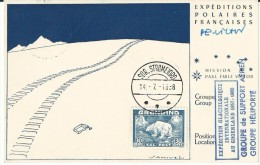 Carte DE 1958 sign�e Paul emile Victor Arctique