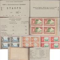 Salomon 1959 Y&T 81, 85, 88, 89. Carnet Vendu 11/.  Canoë Roviana Et Palmiers, Voilier Swallow, Guadalcanal, Avion - 2. Weltkrieg