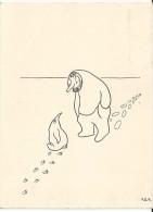 Carte humoristique 1960  de Paul emile Victor Terre Adelie Antarctique