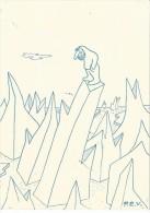 Carte humoristique 1963  de Paul emile Victor postee en Terre Adelie Antarctique