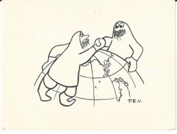 Carte 1965 sign�e Paul emile Victor postee en Terre Adelie Antarctique