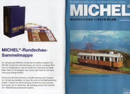MICHEL Briefmarken Rundschau 1/2016-plus Neu 6€ New Stamps World Catalogue / Magacine Of Germany ISBN 978-3-95402-600-5 - Badges