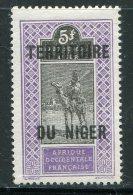 NIGER- Y&T N°17- Neuf Avec Charnière * - Níger (1921-1944)