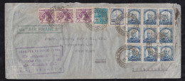 Brazil Brasil 1940 AIR FRANCE Airmail Cover SAO PAULO To SURREY England 10 Year AF Advertising - Brésil