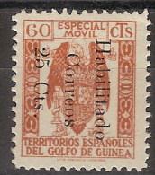 Guinea 259E (*) Fiscal Habilitado. 1939. Sin Goma - Spanish Guinea