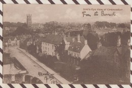 6AI337 BIRD'S EYE VIEW OF CIRENCESTER  2 SCANS - Unclassified