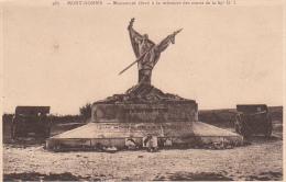 rare cpa mort-homme le monument � la m�moire  des morts de la 69e DI