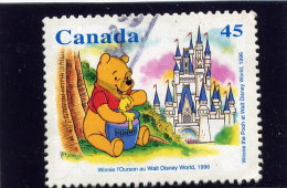 CANADA 1996,USED, # 1621   WINNIE @ WHALT DISNEY WORLD - Oblitérés