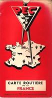 CARTE ROUTIERE Et TOURISTIQUE FRANCE - Foldex 1960 - Publicité Des Engrais PEC - Table Kms à Curseur - Roadmaps