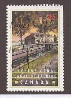 CANADA , 1998 ,  USED, # 1731    CANALS: CANAL LACHINE  QUEBEC - 1952-.... Règne D'Elizabeth II