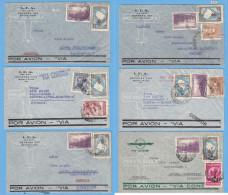 + ARGENTINA 1930 -1940, 6 AIRMAIL, BUENOS AIRES - HAMBURG, 4 VIA CONDOR,1 AIR FRANCE AN 1 UNKNOWN, See Scans - Argentina