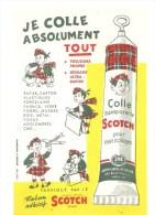 Buvard SCOTCH Je Colle Absolument Tout Colle Transparente Scotch Pour Tous Collages - Stationeries (flat Articles)