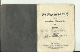 DEUTSCHLAND   --  FELDGESANGBUCH  --  FUR DIE EVANGELISCHEN MANNSCHAFTEN DES HEERES  --   1897  --  36 PAGES, KOMPLET - Militaria