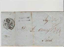 Turkey 1849 Salonich To Trieste Austria Via Semlin - SANITATIS - Levant - Turkey