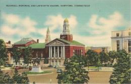 CPA-1939-USA-CONNECTICUT-HARTFORD-BUSHNELL MEMORIAL And LAFAYETTE SQUARE-TBE - Hartford