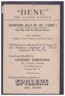 PUBLICITE SPILLERS DOG FOODS - DENE THE CANINE WONDER - B ( PLI D'ANGLE ) - Advertising