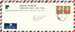 Turkey Air Mail Cover Sent To Denmark Kizilay 1979 ?? - 1921-... Republic