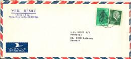 Turkey Air Mail Cover Sent To Denmark Taksim 22-11-1976 - 1921-... Republic