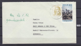 + CHILE , LETTER FROM SANTAIGO DE CHILE TO GERMANY, 12 $ + 2,5 $,  See Scans - Chile