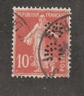 Perforé/perfin/lochung France No 138 SG  Société Générale (93) - Perforés
