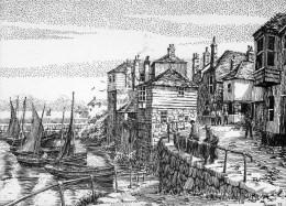 Postcard - Newlyn Old Harbour By Geoffrey Huband, Cornwall. GH - England